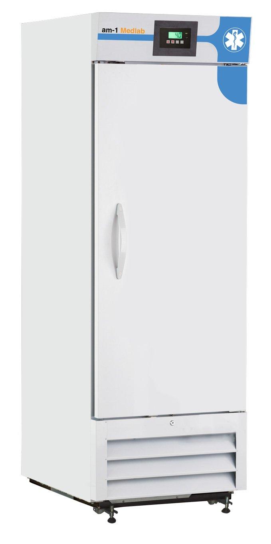 am-1 AM-LAB-1D-RSP-23 MedLab Premium Solid Door 23 cu White ft Medical//Laboratory Refrigerator