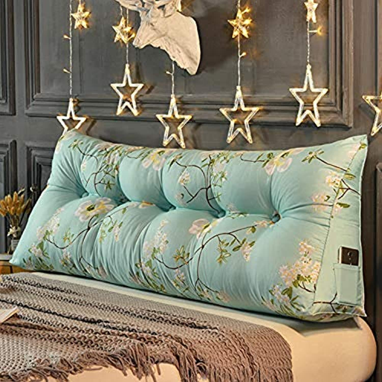 Yao lan Dreieck Nacht Sitzkissen Tatami Kopf Lesen Rückenlehne Unterstützung Keilkissen Bett Sofakissen Kissen Lendenkissen (Farbe   F, gre   100cm)