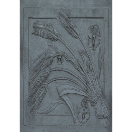 Lunaway Kaminplatte Ofenplatte für Kamin aus Gusseisen - Ohr, Maße: 50 x 70 cm Dicke: 1 cm
