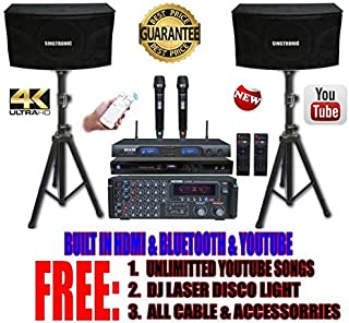 SINGTRONIC PROFESSIONAL 2000 WATTS COMPLETE KARAOKE SYSTEM PACKAGE FREE: UNLIMITED YOUTUBE SONGS, BUILT HDMI & BLUETOOTH