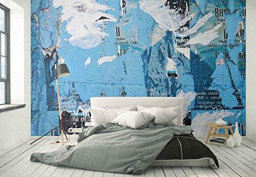 Vlies Fototapete Fotomural - Wandbild - Tapete - Zerrissenes Papier Hintergrund Mauer - Thema Texturen und Effekte - MUSTER - 104cm x 70.5cm (BxH) - 1 Teilig - Gedrückt auf 130gsm Vlies - FW-1048VEM