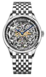 Agelocer Men's Top Brand Stainless Steel Skeleton Mechanical Automatic Luxury Watch (CGL:5401A9)