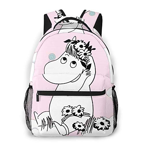 xiameng Moomin Backpack Students Bookbag Durable Traveling Bag Lightweight Daypack