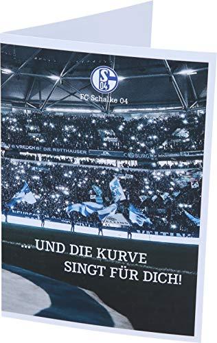 FC Schalke 04 Grußkarte und die Kurve singt