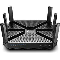 TP-Link AC4000 Smart WiFi Tri Band Router with Alexa (Black)