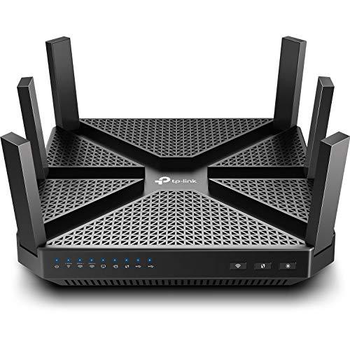 TP-Link AC4000 Smart WiFi Router - Tri Band Router , MU-MIMO, VPN Server, Antivirus/Parental Control, 1.8GHz CPU, Gigabit, Beamforming, Link Aggregation, Rangeboost, Works with Alexa(Archer A20),Black