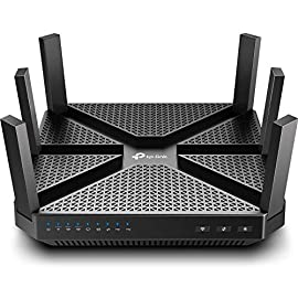 TP-Link AC4000 Smart WiFi Router - Tri Band Router , MU-MIMO, VPN Server, Antivirus/Parental Control, 1.8GHz CPU… 1 JD Power Award ---Highest in customer satisfaction for wireless routers 2017 and 2019 4K video, streaming, gaming is no problem for the A20 with incredible AC4000 tri band speeds Top of the line 1.8 GHz 64 Bit processing to smoothly process multiple requests and accelerate loading Times