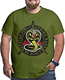 Cobra Kai Karate Men's Top Loose Tee for People with Strong Stature Black