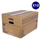 Bankers Box 6207201 SmoothMove Stabiler, doppellagiger Umzugskarton, 10 Stück