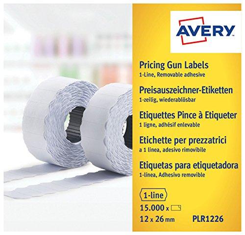 Avery PLR1226 - Rollo etiquetas removible 1 línea