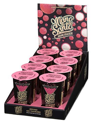 Drink Eraser Mano de Santo - Nuevo Formato - Pack de 8 vasos monodosis efervescentes + agua + agitador