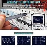 WEI-LUONG Osciloscopio Probador de diodos de Resistencia a la Resistencia al Voltaje DC/CA de la Corriente de la Corriente del osciloscopio Digital con 4000 Cuentas de Ancho de Banda analógico de 20