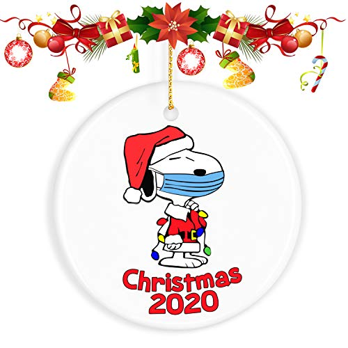ValueVinylArt Christmas Ornaments with Snoopy, Christmas Decorations Clearance 2020 Ornament Christmas Tree Ornaments - Gifts for Christmas