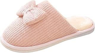 Kiyotoo - Zapatillas de Interior para Mujer, casa, recámara, jardín, hogar, cómodas, de Espuma viscoelástica, cómodas, Antideslizantes, Zapatos de algodón
