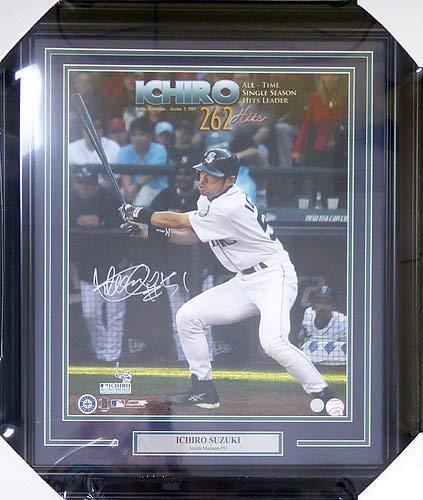 Ichiro Suzuki Seattle Mariners MLB Hand Signed 16x20 Photograph 262 Hits