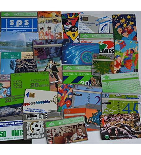 Goldhahn 30 Verschiedene Telefonkarten Briefmarken für Sammler