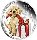 Chaenyu 2018 Wuxu Hund Baby Tier Mond Neujahr Farbe versilberte Münze Kopie Geschenk Sammlerstücke Gedenkmünzen