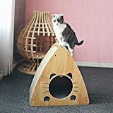 JR Knight Katzenhaus aus Holz, Wellpappe, zum Üben von Schleifpfoten