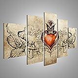 islandburner Tableau Tableaux sur Toile Conception de Tatouage, Coeur Tribal avec...