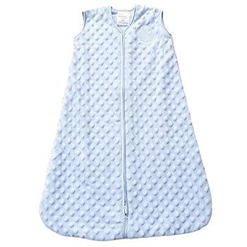 HALO Sleepsack Plush Dot Velboa Wearable Blanket Blue Medium