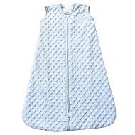 HALO Sleepsack Plush Dot Velboa Wearable Blanket, TOG 1.5, Blue, Medium