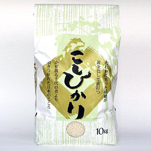 新潟米コシヒカリ 白米 10キロ 新潟産こしひかり 産地直送 ギフト、ご家庭で、お弁当にも 新米