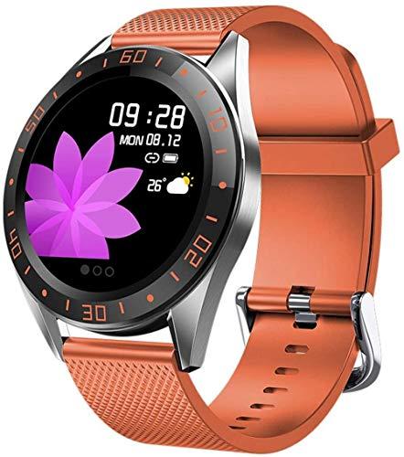Reloj inteligente, rastreador de fitness con monitoreo del sueño, rastreador de actividad que soporta podómetro, pasos impermeables y calorías-1