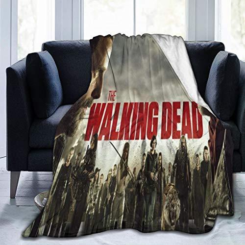 Lphdfoxh1 The Walking Dead – Manta de franela de lana, manta de viaje, supersuave, mullida y cálida para sofá