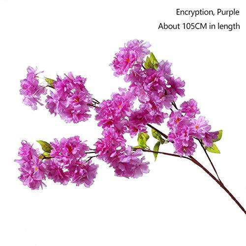 NO BRAND 105cm Falso árbol de Cerezo en Flor 3Rama de Sakura Flor Artificial Seda Fondo de la Boda decoración de la Pared Flores sentirse cómodo