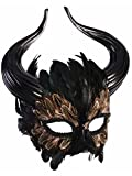 Forum Novelties 78412 Unisex-Adults Mask-Minotaur, Black, Standard, Multicolor