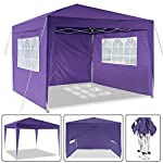 Laiozyen 3 x 6 m Waterproof Pop Up Gazebo Marquee Water Resistant Tent with Side Panels & Storage Bag for Outdoor Wedding Garden Party 16