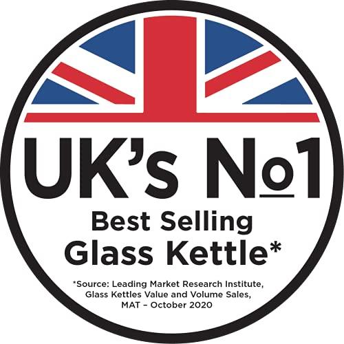 Russell Hobbs 21600-10 Illuminating Glass Kettle, Black, 1.7 Litre, 3000 Watt
