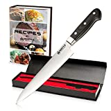 RIGSTYLE German Chef Knife 8 inch, High Carbon Stainless Steel, Sharp Blade with Ergonomic Handle for Professional Chefs, Restaurants & Home Kitchens, Meat, Fish, Chicken & Vegetables, with Gift Box