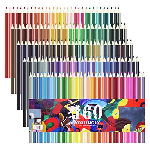 LaconileBuntstifte, lebhafte Farben, gespitzt, für Erwachsene, Künstler, zum Zeichnen Skizzieren, Ölstifte, 160 Stück 35 x 20 x 5 cm 160 Colours