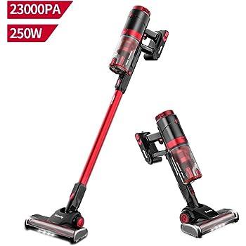 X6 MooSoo Scopa Elettrica Senza Fili Aspirapolvere Senza Sacco per Casa con Batteria Rimovibile//Tazza per la Polvere 1,3L//Spazzola per Pavimenti Elettrica Turbo