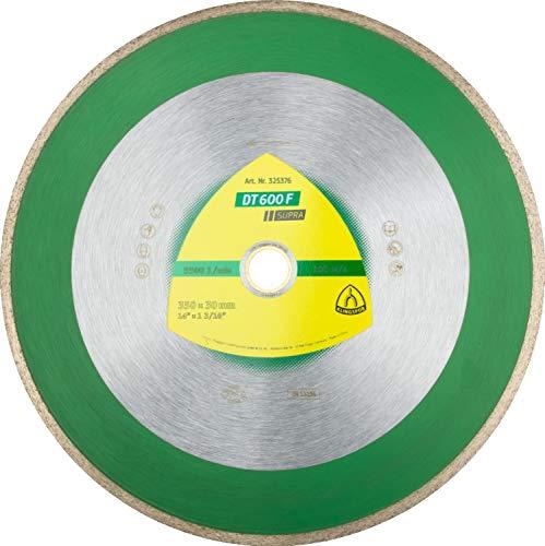 Klingspor 325373 Discos de Corte Diamantados para Sierras de Mesa, DT 600 F, 200 mm x 25.4/30 mm, 7600 RPM