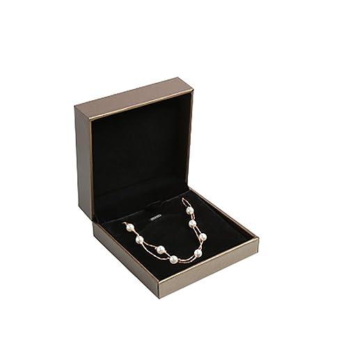 834d1be83f JUNGEN® Caja de Collar Organizador de Joyero Joyas, Estuche de joyería con  Interior de