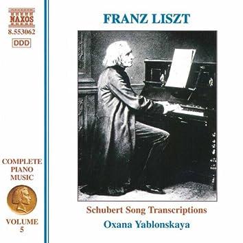 Liszt Complete Piano Music, Vol. 5: Schubert Song Transcriptions, Vol. 1