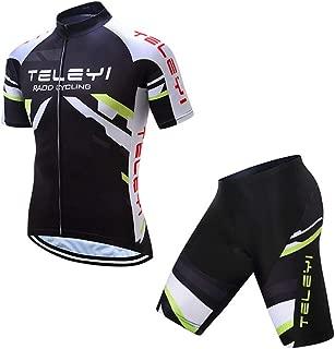YHL Bike Jersey Ropa De Ciclismo para Hombres para Hombres con Diseño De 3 Bolsillos Que Absorbe La Humedad para Bicicletas De Montaña,B,XS