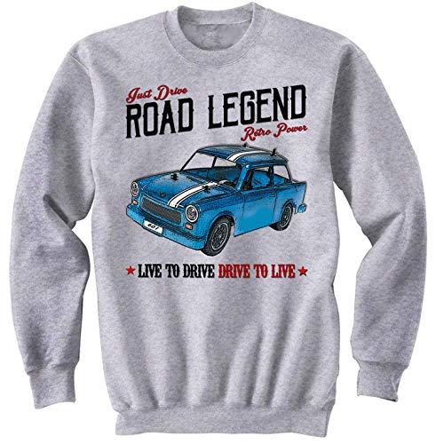 Teesandengines Men\'s Trabant 601 Grey Sweatshirt Size XLarge