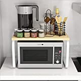 YRRA 2 Niveles Estantería Cocina Organizador Cocina Almacenamiento para Especias, Condimentos, Jabones, Botelas, Frascos,Kitchen Shelf,K