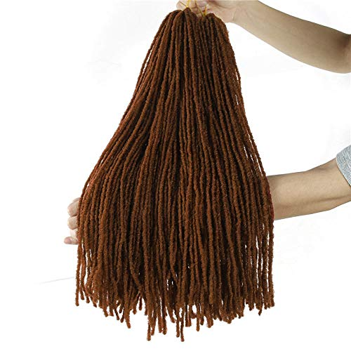 Perücke Dreadlocks Hair Crochet Braids Weiche Dread Afro Frisur Ombre Synthetic- # 30_18Inches