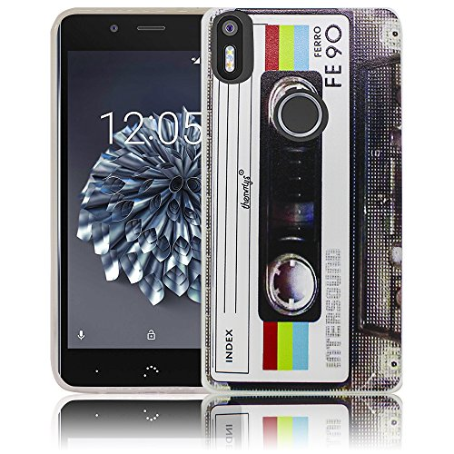 bq Aquaris X5 Plus Passend Kassette Retro Handy-Hülle Silikon - staubdicht, stoßfest & leicht - Smartphone-Case