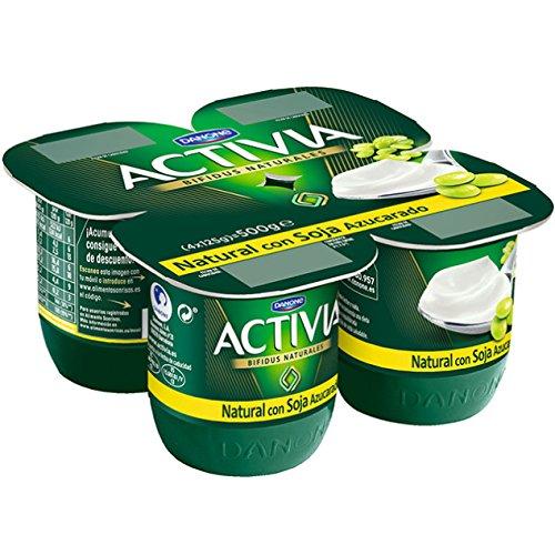 Activia - Yogur Danone Soja Natural Pack 4 x 125