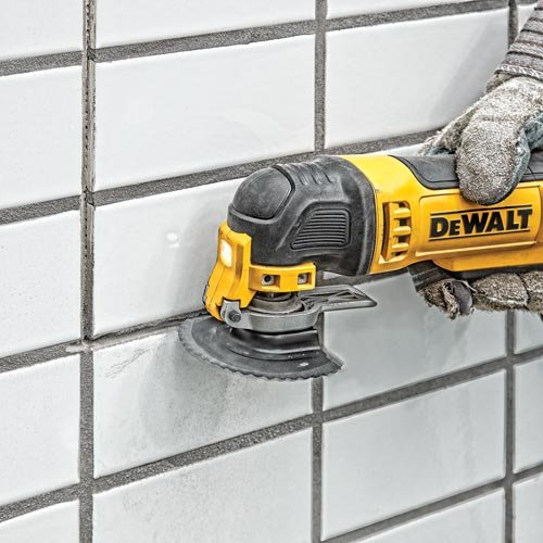 DEWALT Oscillating Tool Kit, Corded, 3-Amp, 29 Pieces (DWE315K) & Oscillating Tool Blade for Grout Removal, Fast Cutting, Carbide (DWA4220)