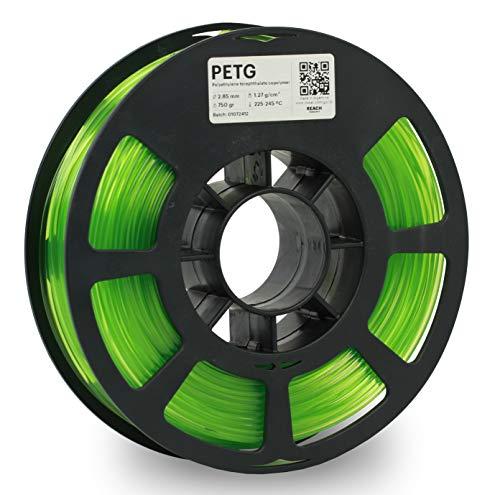 KODAK PETG Filament 2.85mm for 3D Printer, Translucent Green PETG, Dimensional Accuracy +/- 0.02mm, 750g Spool (1.7lbs), PETG Filament 2.85 Used as 3D Filament Consumables to Refill Most FDM Printers