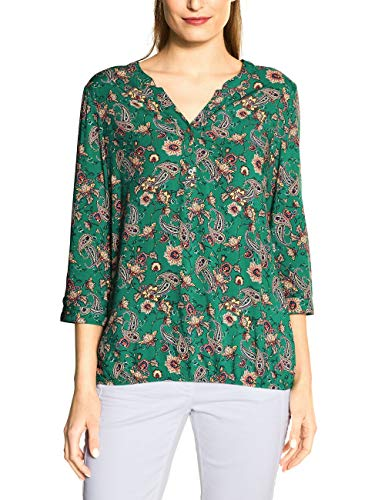 Cecil Damen TOS Paisley Print Blouse Bluse, Lucky Clover Green, Large
