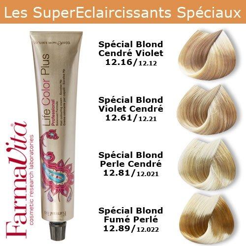Coloration cheveux FarmaVita - Super éclaircissants spéciaux Spécial Blond Fumé Perle 12.89