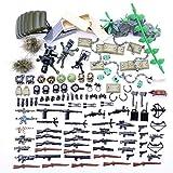 Mecotecn 150Pcs Bloques de Construcción Militares WW2 con Custom Armas y Casco para Figuras de...
