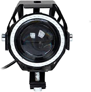 Allextreme Super Power Spot Beam U7 Led Fog Light, With Angel Eyes Light Ringthree Mode High Beam 125W Cree Fog Spotlight For Motorcycle 1Pc - Red